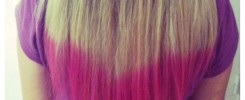 PINK DIPPED HAIR