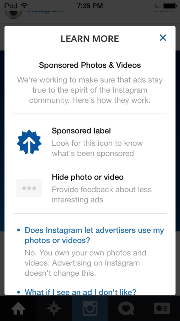 how to stop instagram ads