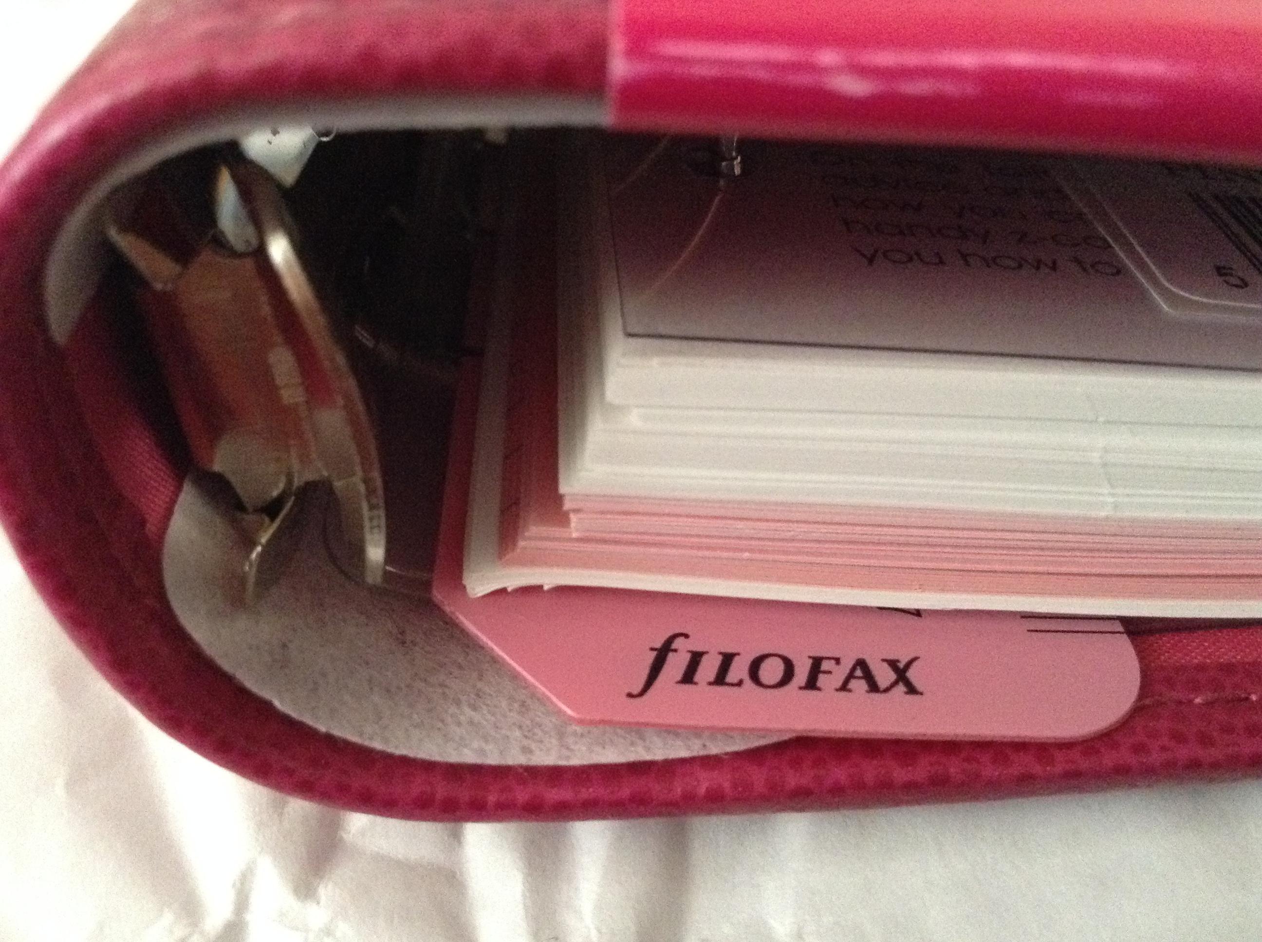 pink personal filofax