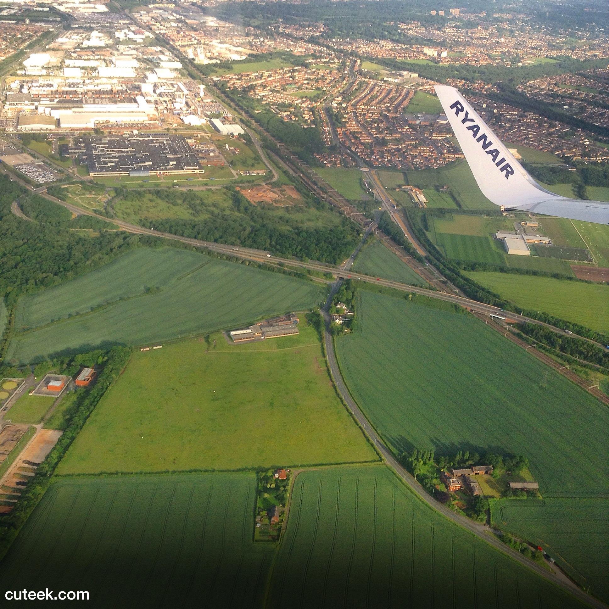 Ryanair Plane Window View