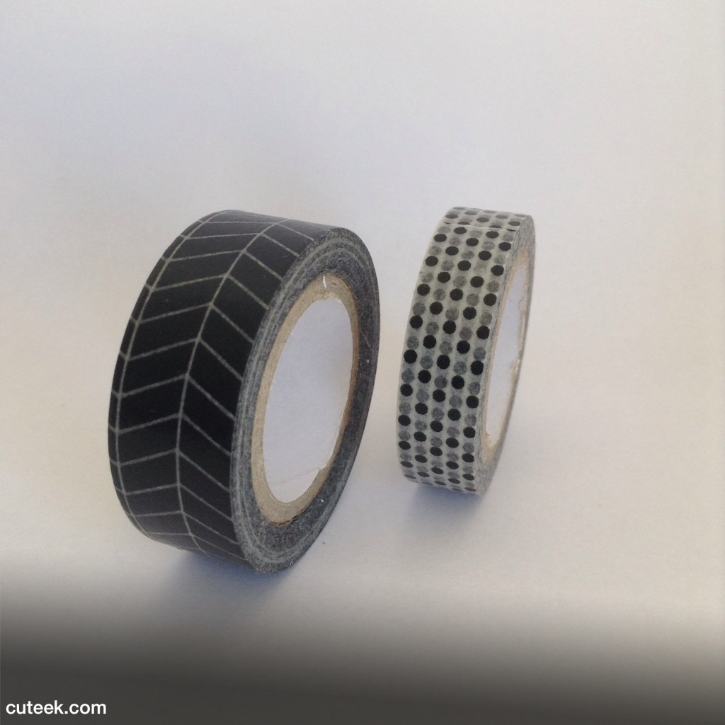 Monochrome washi tape