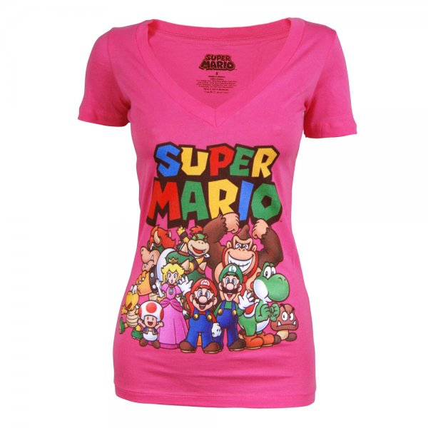 Pink Super Mario T-Shirt
