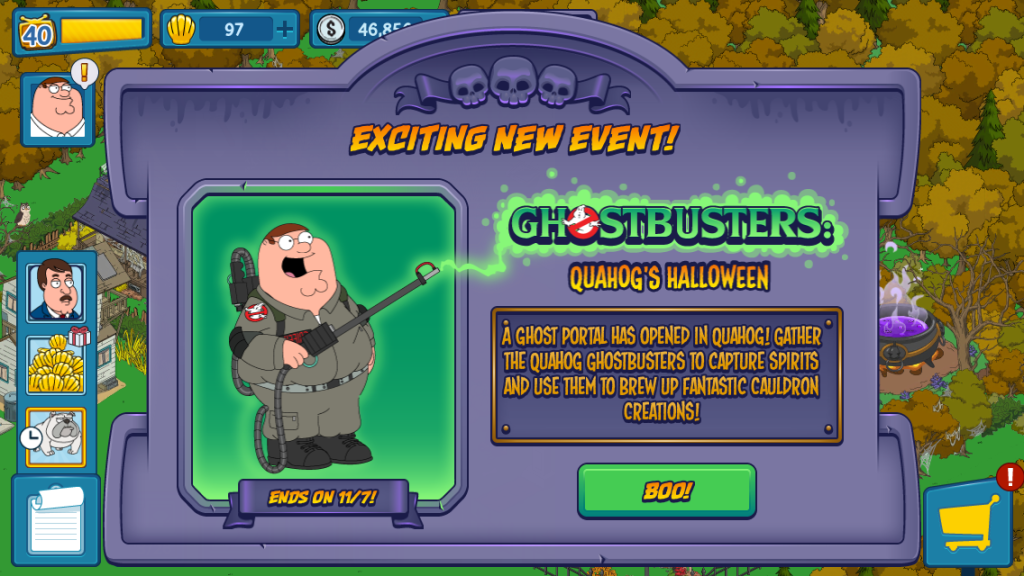 Family Guy The Quest for Stuff: Halloween Event - Cuteek