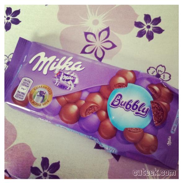 Milka Bubbly Chocolate Bar