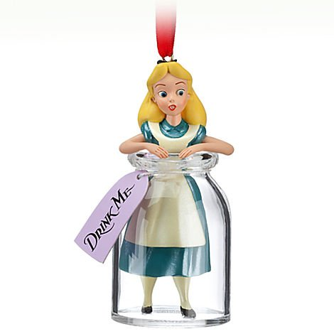 Alice in Wonderland Drink Me Ornament