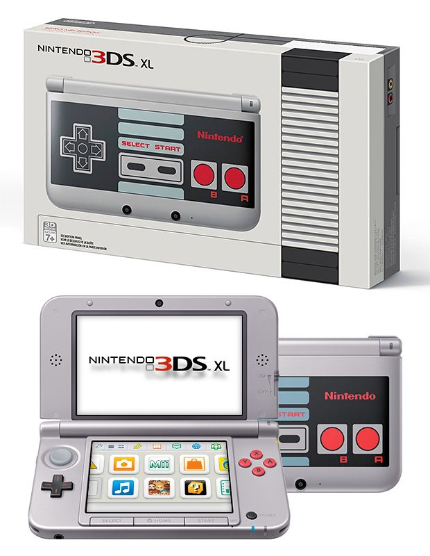 Retro NES Nintendo 3DS XL
