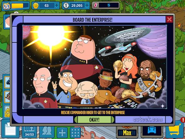 Family Guy The Quest For Stuff Star Trek Event