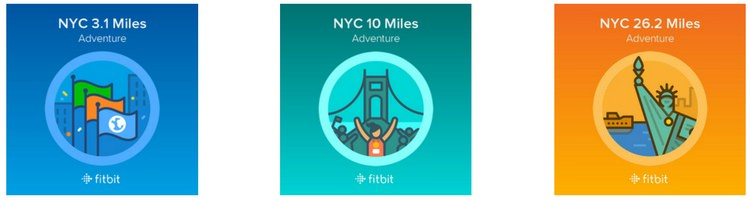 Fitbit Adventures NYC Badges