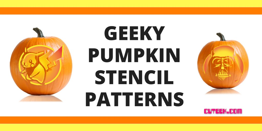 Geeky pumpkin stencils cuteek for Geeky pumpkin carving templates