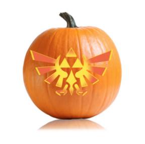 Legend of Zelda Pumpkin Stencil Triforce Logo