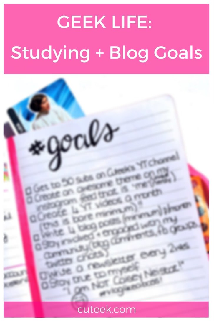 Geek Life February Studying and Blog Goals