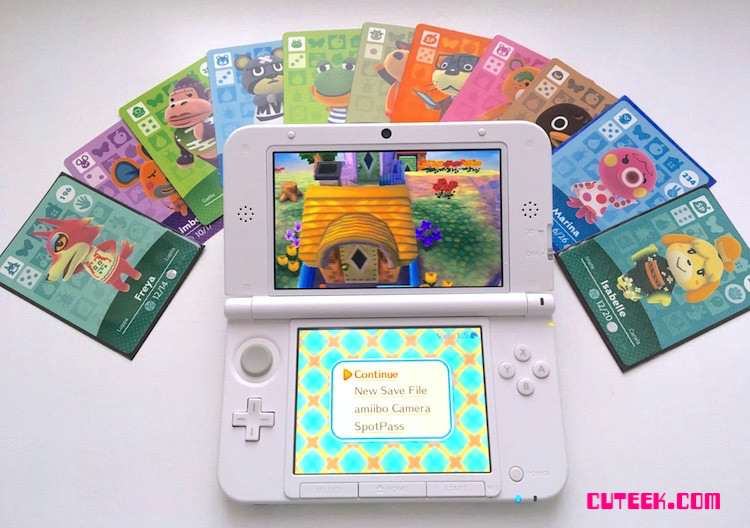 Luigi Nintendo 3DSXL and Animal Crossing amiibo Cards