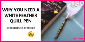 White Feather Quill Dip Pen by Creoly