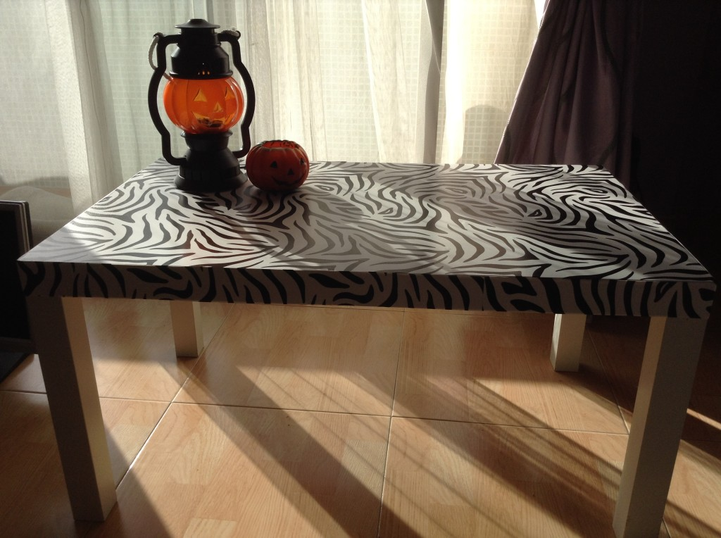 IKEA Hack Zebra Coffee table