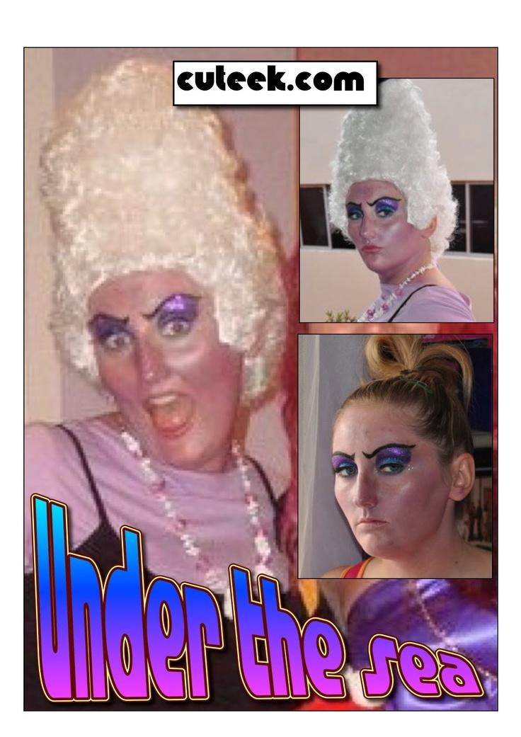 Ursula sea witch makeup tutorial