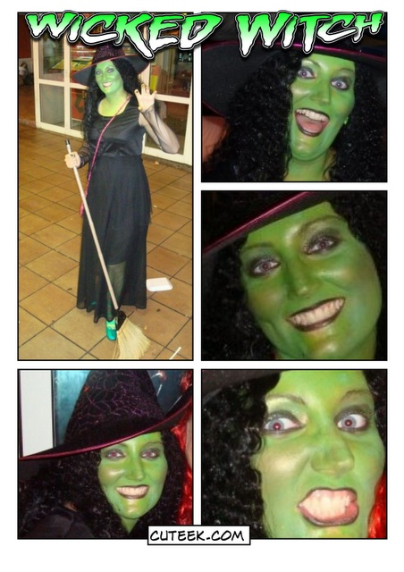 Wicked Witch Elphaba Makeup and Costume