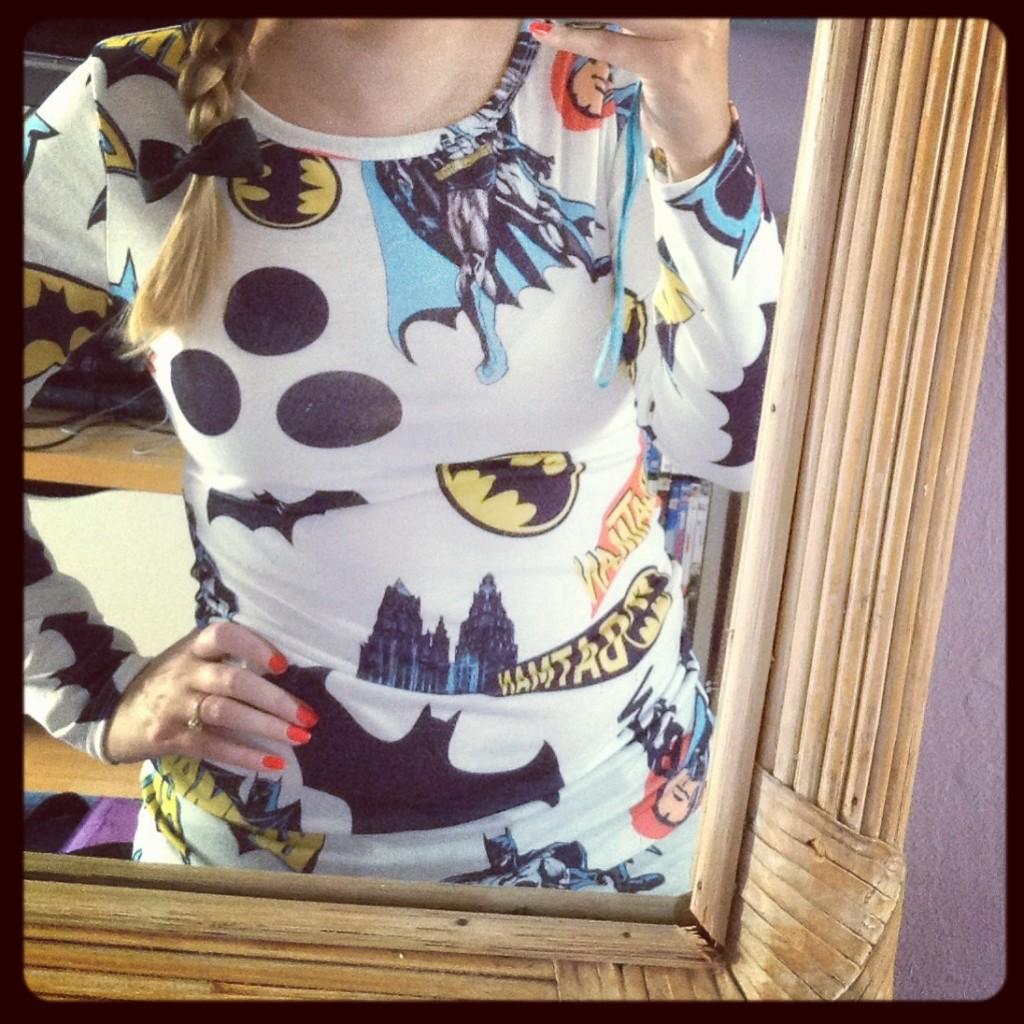 White Batman Tunic - OMG Fashion