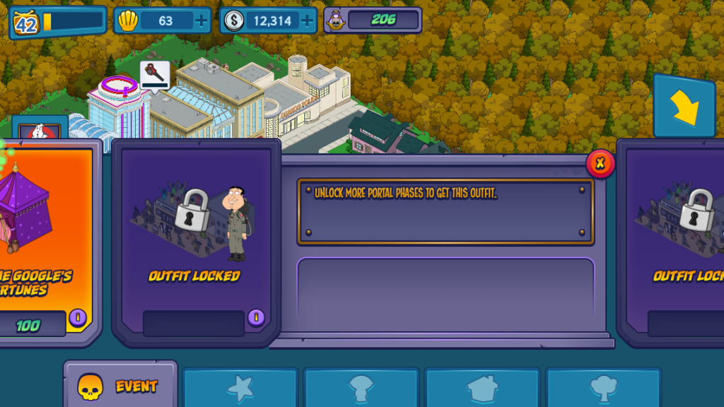 Family Guy The Quest For Stuff Halloween Event