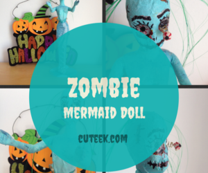 Zombie Mermaid Doll