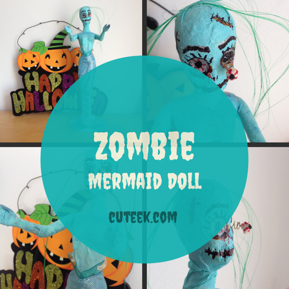Zombie Mermaid Doll