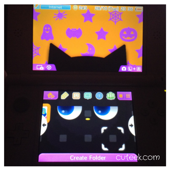 Nintendo DS Spooky Cat theme