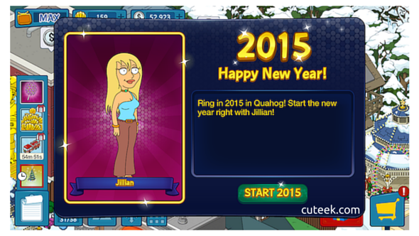 Family Guy The Quest For Stuff New Year Event