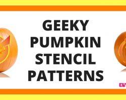 Geeky Pumpkin Stencils