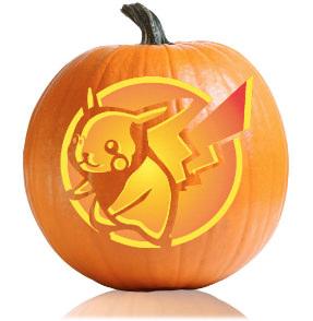Pikachu Pumpkin Stencil