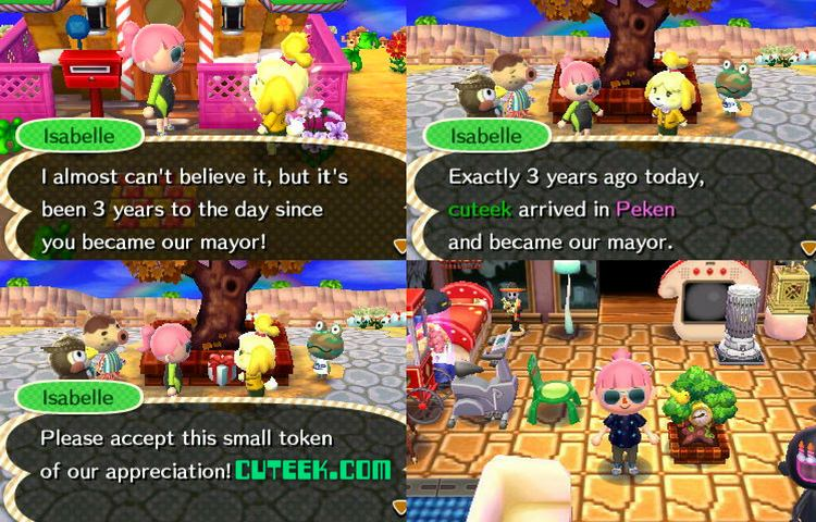 Animal Crossing New Leaf Update Anniversary