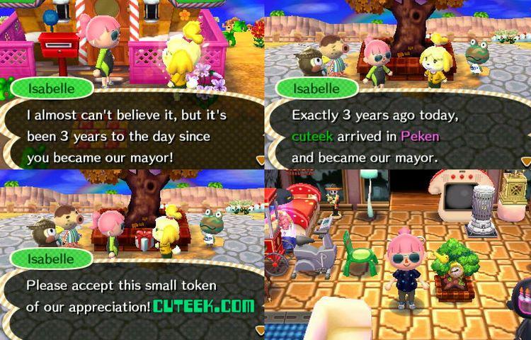 Animal Crossing New Leaf Update Anniversary