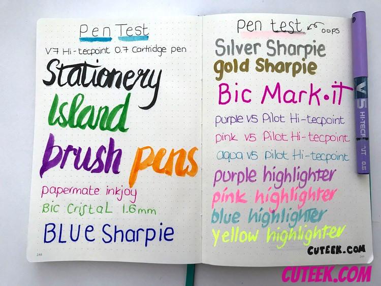 Leuchtturm Bullet Journal Pen Test