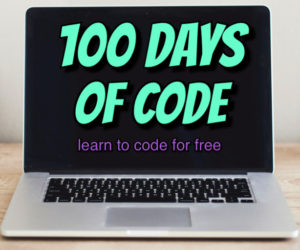 100 Days of Code Challenge   Learn to code for free