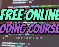 Free Online Coding Courses + My Coding Journal