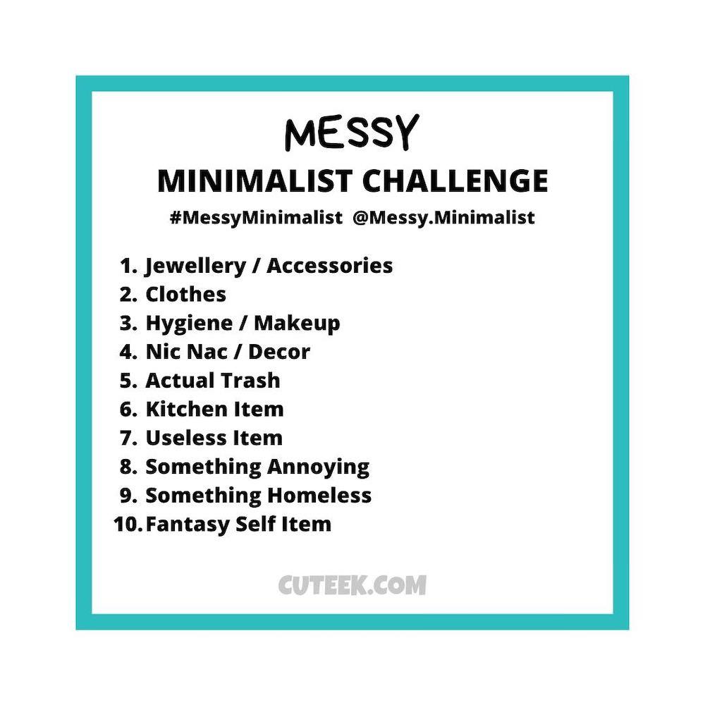 Messy Minimalist Challenge Prompts