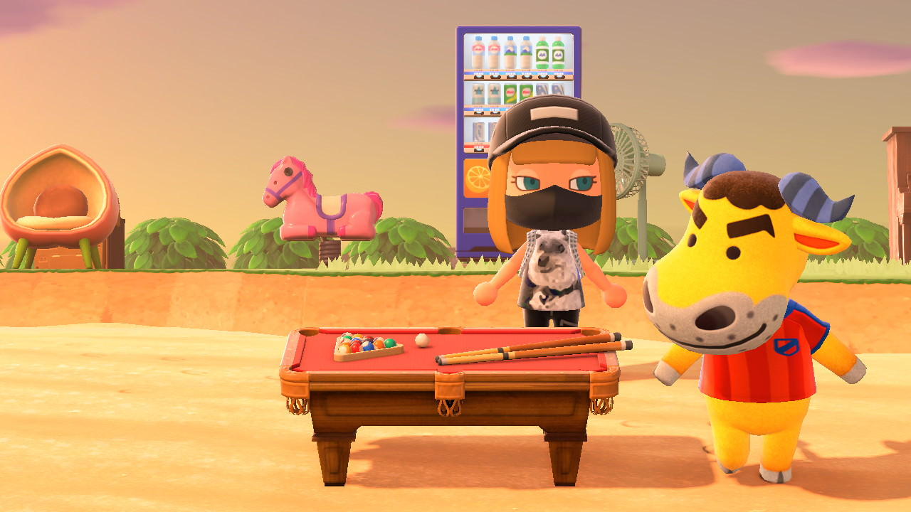 Animal Crossing New Horizons Pool Table
