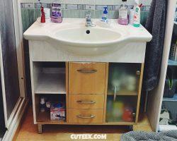 DIY Bathroom Cabinet Refurb