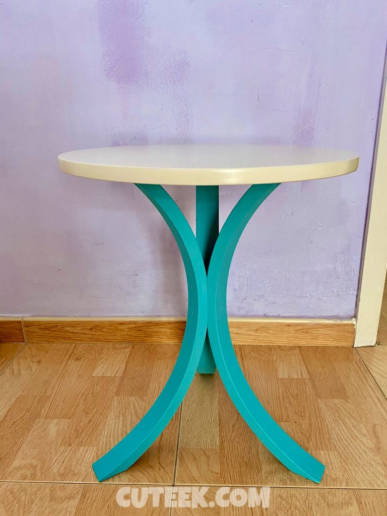IKEA hack FORNBRO table chalk painted turquoise