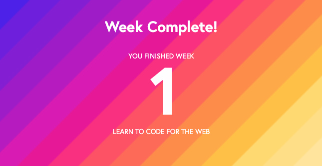 Learn to code for the web week one