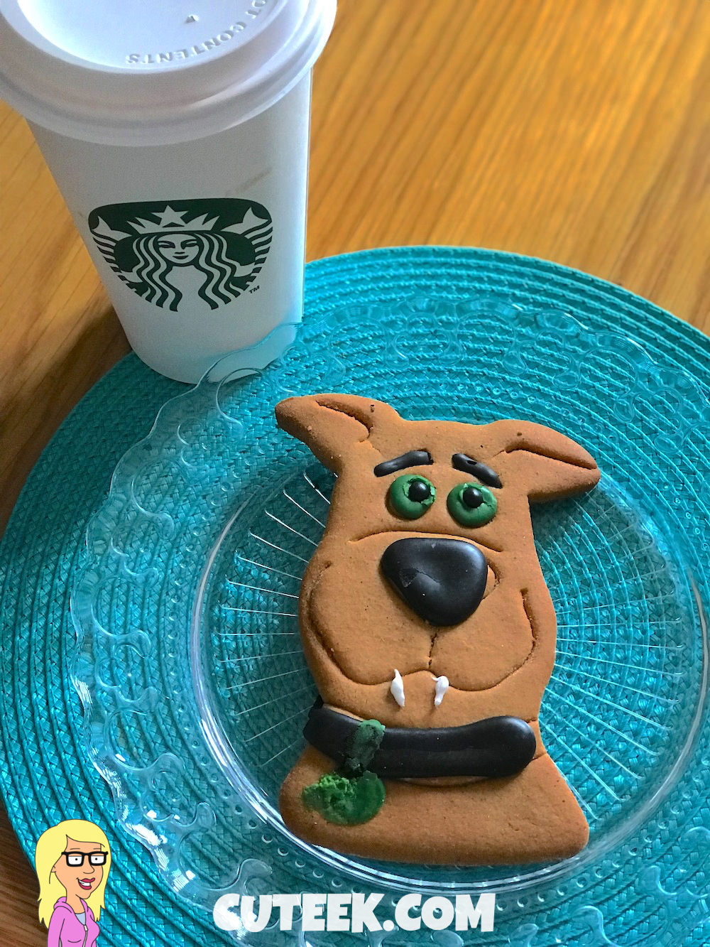 Starbucks PSL and Scooby Doo Gingerbread Cookie