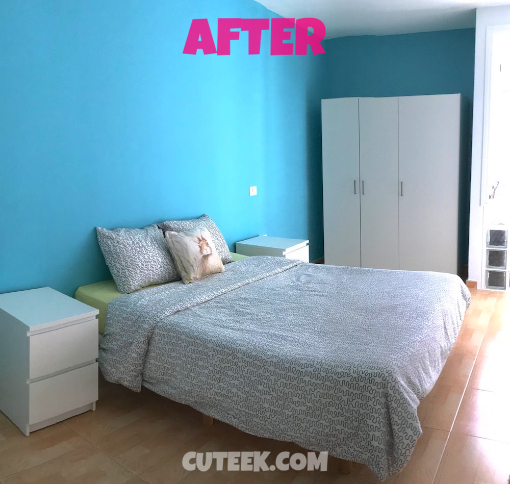 Guest Bedroom After | Turquoise Walls