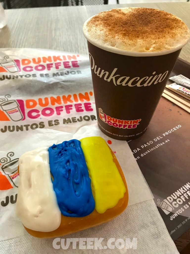 Canary Islands Flag Donut Dunkin