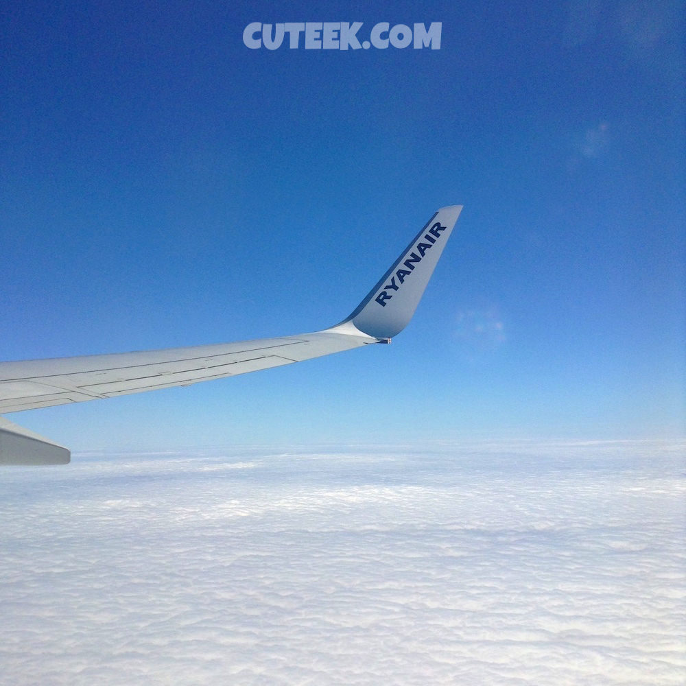Ryanair Window View Clouds Blue Sky