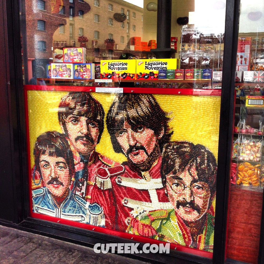 The Beatles Jelly Beans Art at The Albert Dock Liverpool