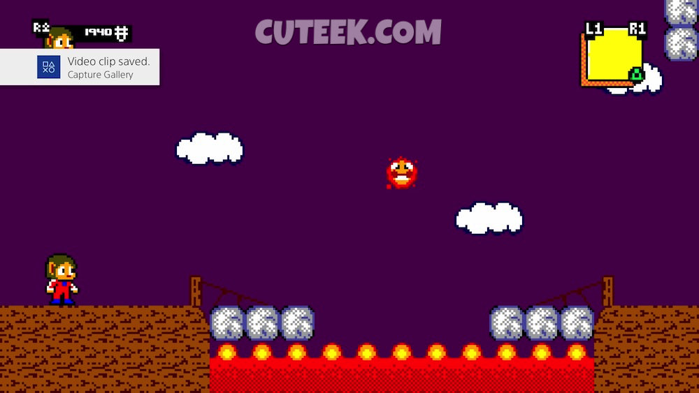 Alex Kidd in Miracle World DX Scorching Pathways Retro Mode