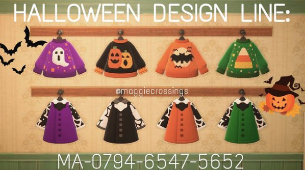 Animal Crossing New Horizons Halloween Outfits | Ghost Sweater and dresses