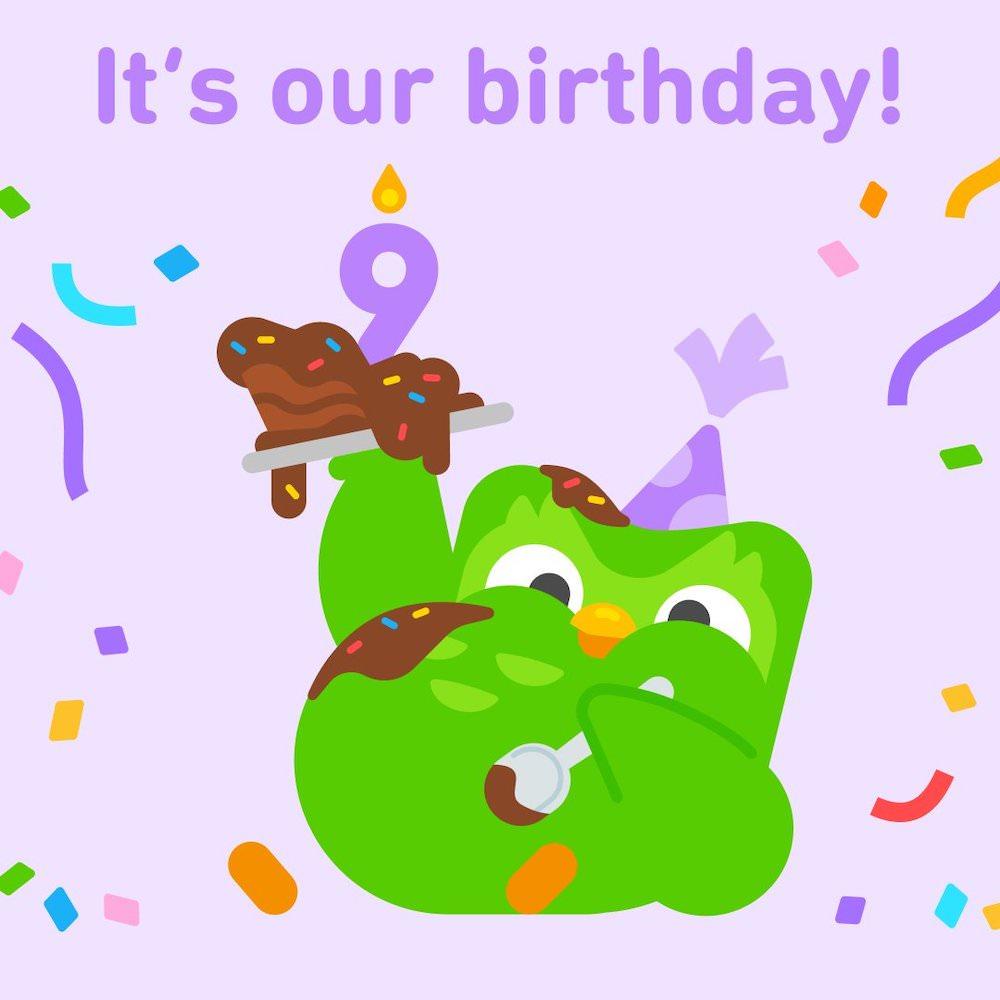 Happy Birthday Duolingo