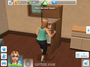 The Sims Mobile Checking The Fridge