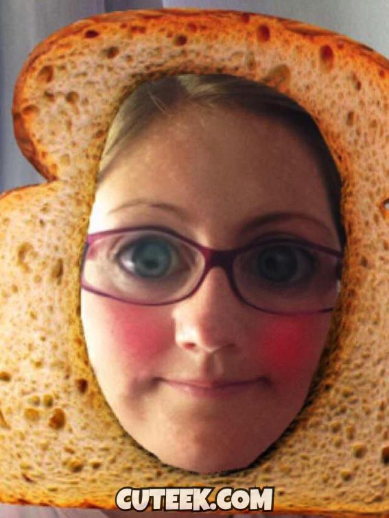 Snapchat Filter Bread Slice