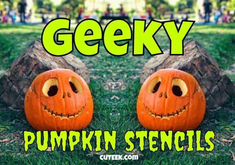 Geeky Pumpkin Stencil Ideas for Halloween