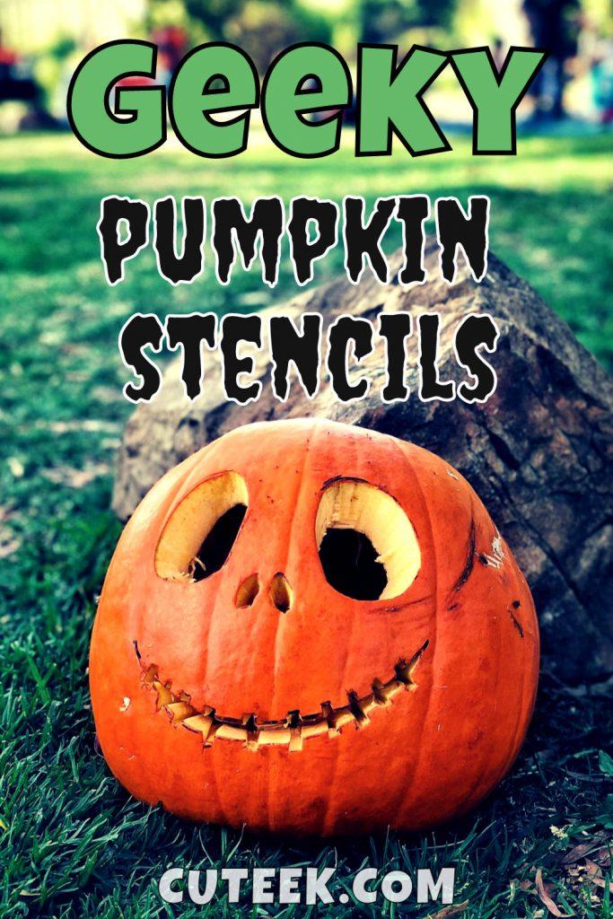 Geeky Pumpkin Stencils Jack Skellington Halloween Ideas